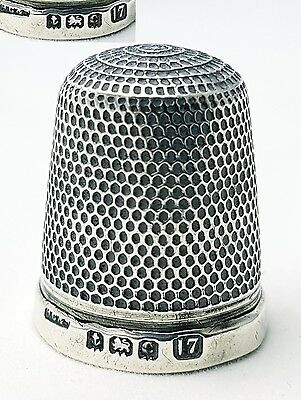 Antique Sterling Silver Thimble Henry Griffiths & Son Birmingham 1902 (size 17)