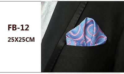 Blue and Pink Patterned High Quality Pocket Square Handkerchief