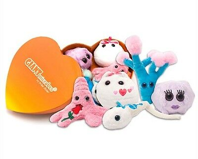 New Giant Plush Microbes Heart Warming Box Think Geek Novelty Education Gift
