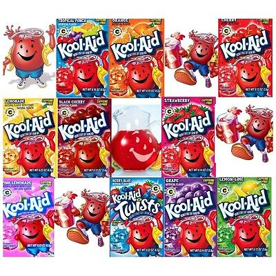 Kool Aid Sachets American best selection on Ebay 2 sachets each of your choice