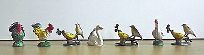 MINIATURE RUBBER TURKEY/SWAN/ GOOSE / BiRD LOT OF 7