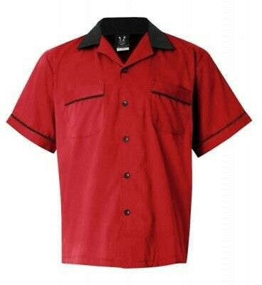 Red Black Bowling Shirt