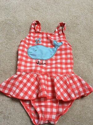 Red And White Girls Swim Suit By Next 18-24 Month Worn Once