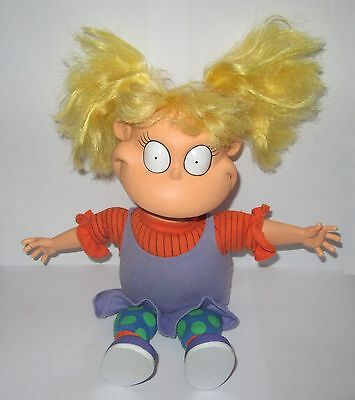 """Official Rugrats Angelica Pickles Nickelodeon Plush 11"""" Soft Toy"""