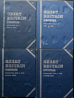 Whitman Penny Collection 1860-1967 in 4 Folders 103 Coins Included