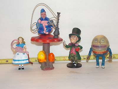 Alice In Wonderland Character Doll Set Dollhouse Miniature Through Looking Glass