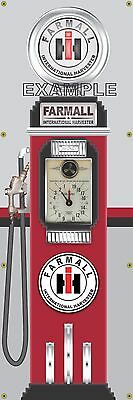 Farmall Ih Tractor Old Tokheim Gas Pump Banner Display Sign Mural Art 2' X 6'