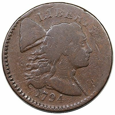1794 Liberty Cap Large Cent, Head of '94, S-65, G