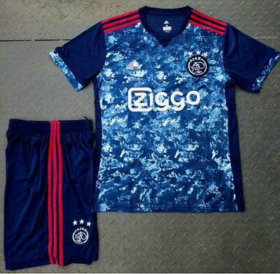New 2017/18 Ajax Amsterdam away Soccer Jersey set football shirt suit tee