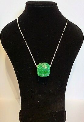 H/Crvd Chinese Jade/Jadeite/natheite pendant come from a 40 years old collection