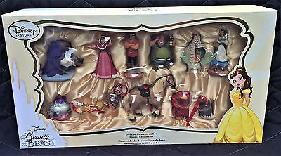 BRAND NEW Disney Beauty and the Beast Limited Edition 1200 Deluxe Ornament Set