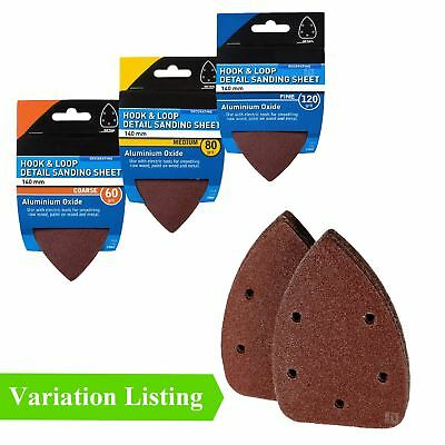 Hook and Loop 140mm Detail Palm Sanding Sheets / Mouse Sandpaper Pads