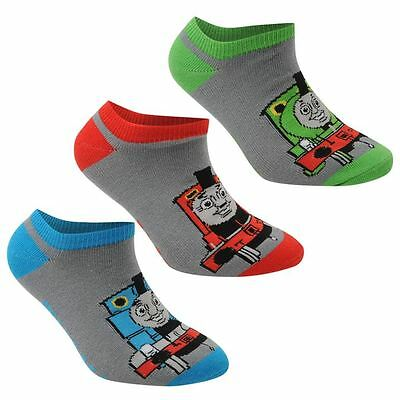 Baby Boys Toddlers 3 Pack Thomas The Tank Engine Trainer Socks Size 0-2 NEW