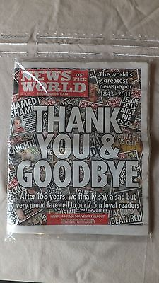News Of The World LAST EDITION 2011 + copy FIRST EDITION 1843 new sealed in bag