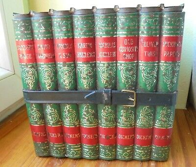 Antic Huntley &Palmers Charles Dickens Books Biscuit Tin  england good condition