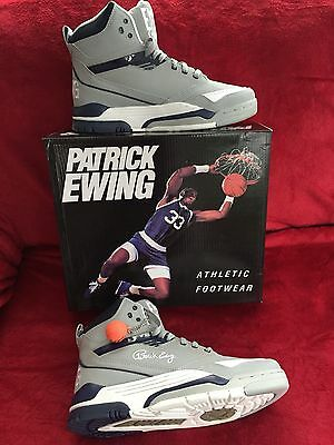 PATRICK EWING Centre Highrise/peacoat/white Basketball Shoes Size 10UK New
