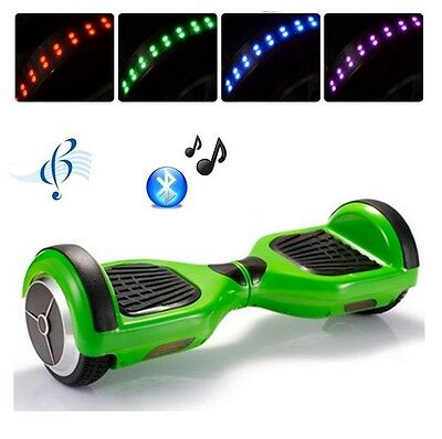 Hoverboard Smart Balance Monopattino Elettrico Scooter 2 ruote Bluetooth - Verde