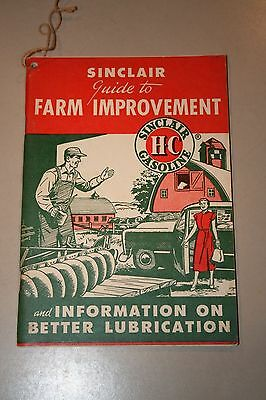 Vintage 1950 Sinclair HC Gasoline Oil Advertising Guide to Farm Improvement NOS