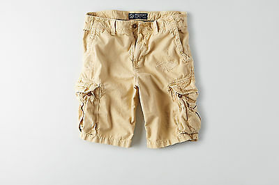 American Eagle Mens Destroyed Cargo Shorts - Tan - Sizes 34-48 - NWT