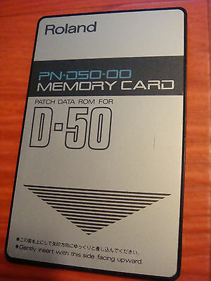 Roland Memory PATCH DATA ROM Card for D-50 D-550 Factory preset PN-D50-00