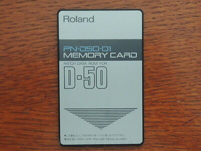 Roland Memory PATCH DATA ROM Card for D-50 D-550 Factory preset PN-D50-01