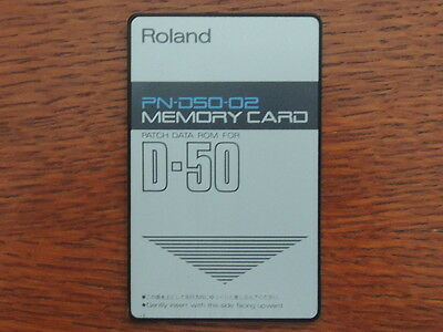 Roland Memory PATCH DATA ROM Card for D-50 D-550 Factory preset PN-D50-02