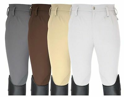 """Mark Todd Mens Performance Breeches Flat Front Euro Seat Beige 38"""" RRP £105"""