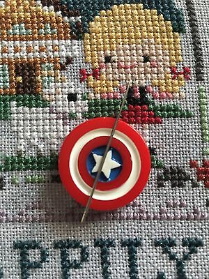Captain America Shield  Needle Minder For Cross Stitch/Embroidery/tapestry