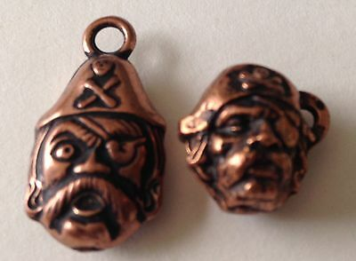 2 Vintage PIRATE Metal Gumball Cracker Jack 50's toys charms