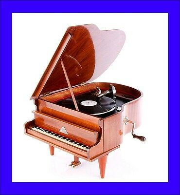 Rare Antique Piano-Shaped Gramophone-Phonograph 'The Standard Melody'. 1930