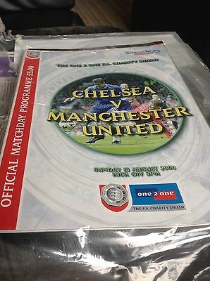 Manchester United v Chelsea 2000 Charity Shield Program