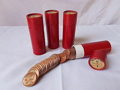 4 Tubes of 1967 Half 1/2 Penny Pennies UC Uncirculated