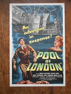 POOL OF LONDON 1951 Poster EALING STUDIO  BONAR COLLEANO SUSAN SHAW