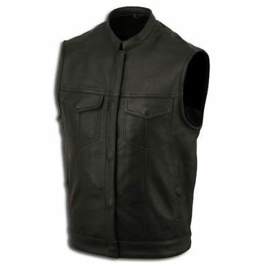 LEATHER WAISTCOAT  Biker Vest Motorcycle MotorBike Leather / Sons of Anarchy