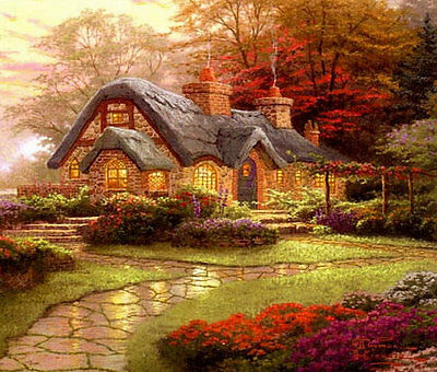 Thomas Kinkade Cottage Colour Cross Stitch Chart