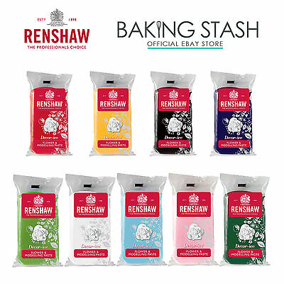 Renshaw Edible Flower and Modelling Paste - All Colours - 250g/500g/750g/1kg