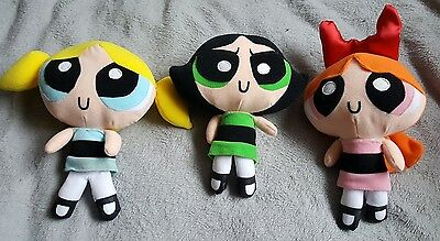 Powerpuff Girls Bubbles Blossom Buttercup Plush Soft Toy Cartoon Network Set