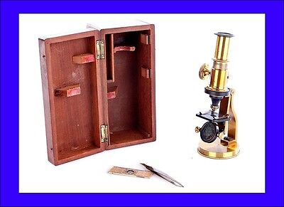 Antique Small Compound Microscope in Working Order. Made Circa 1900