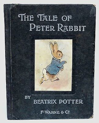 """Beatrix Potter The Tale Of Peter Rabbit 1902 1St Trade Edition """"wept Big Tears"""""""
