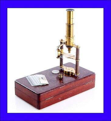 Antique Rare Microscope in Good Condition and in Working Order. Circa 1890