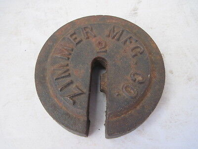 Vintage Zimmer Mfg. Co. Cast Iron No. 2 Scale Weight