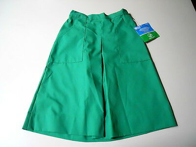 NOS GIRL SCOUTS OF USA #0-225  Green A-Line Skirt 12