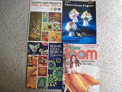 Lot Of 4 Vintage Flower Loom Projects Booklets.studio Twele & Columbia Minerva