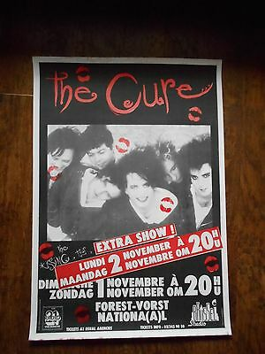 THE CURE The Kissing Tour Poster 1987 Forest National Belgium EXTRA date