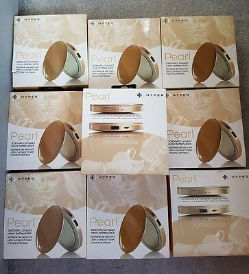 JOBLOT X10 Pearl Gold Compact Mirror Power Bank Charger iphone 7 Samsung Travel.