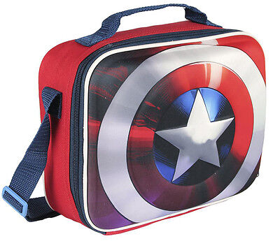 Marvel Lunch box Captain America Avengers School lunch box insulated bag License