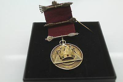 Sterling Silver Masonic Medal with ribbon 1970