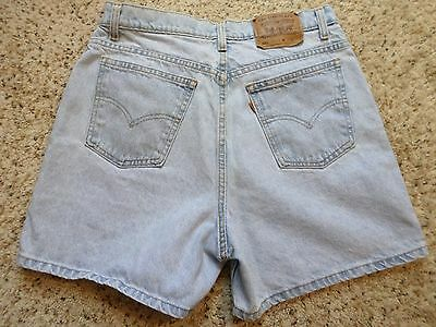Vintage USA Levi's 920 Jean Shorts~Hi Waist~Light Wash~Orange Tab~Cotton~Size 14