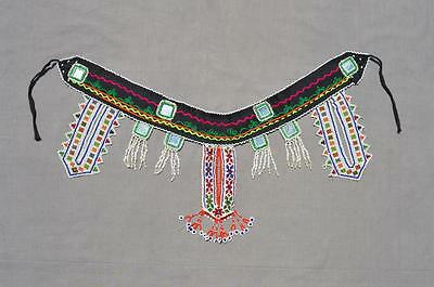 kuchi Afghan Beaded Embroidered Ethnic Bohomain Tribal Nomad Banjara Belt KBN-9