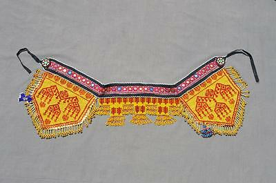 kuchi Afghan Beaded Embroidered Ethnic Bohomain Tribal Nomad Banjara Belt KBN-4